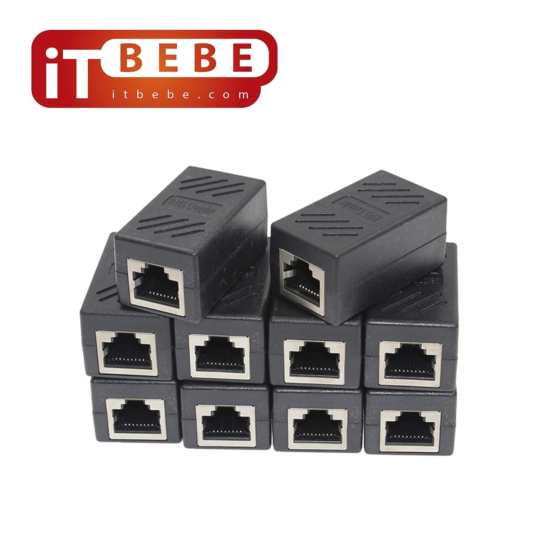 Amazon.com: RJ45 en línea acoplador conector CAT7 cat6 cat5e ...