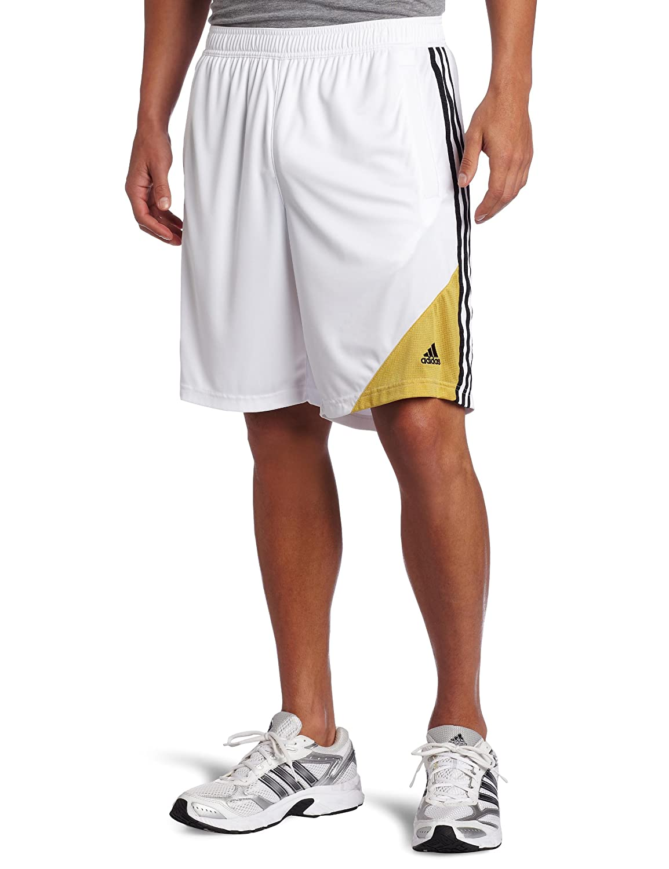 822e1a487f Amazon.com : adidas Men's Adipure Short (White, Light Old Gold ...