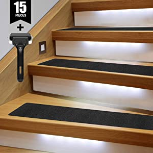 "TreadSafe (15-Pack) Anti Slip Grip Traction Tape | 30"" x 6"" 