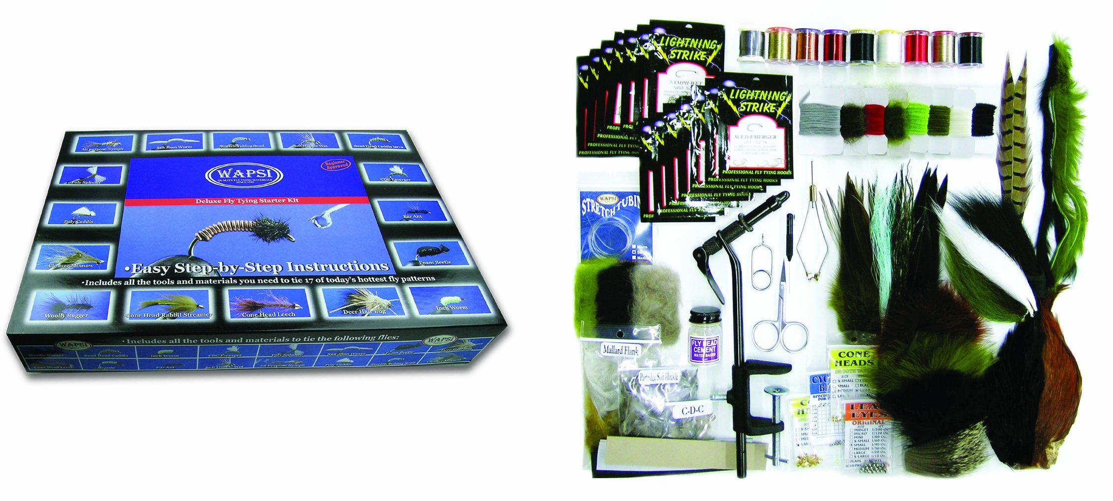 Wapsi Fly Inc. Deluxe Fly Tying Starter Kit by Wapsi