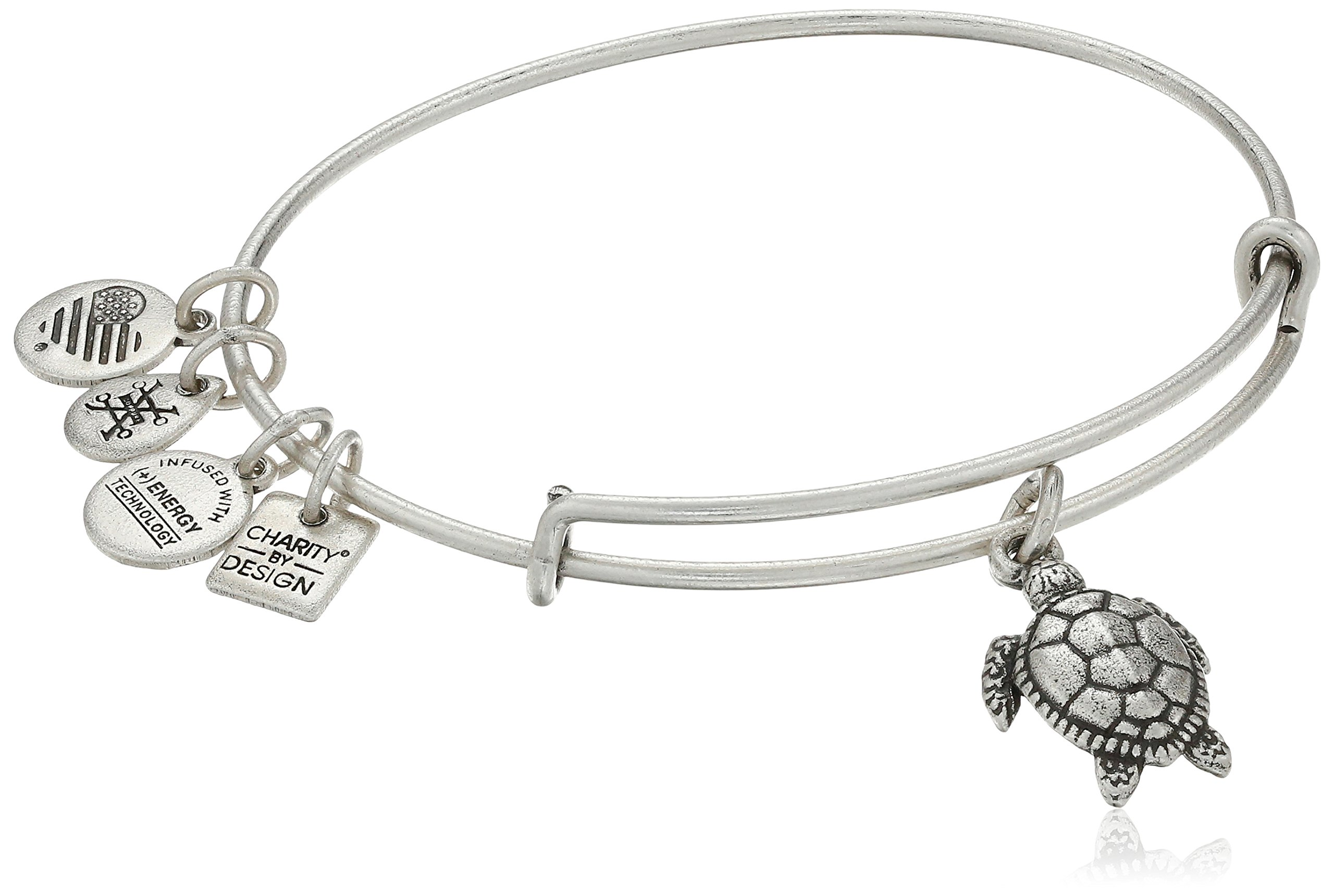 Alex and Ani Charity By Design Turtle Rafaelian Silver Bangle Bracelet by Alex and Ani