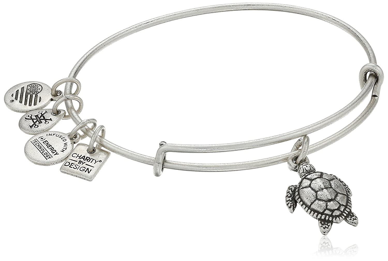 Alex and Ani Charity By Design Turtle Rafaelian Silver Bangle Bracelet