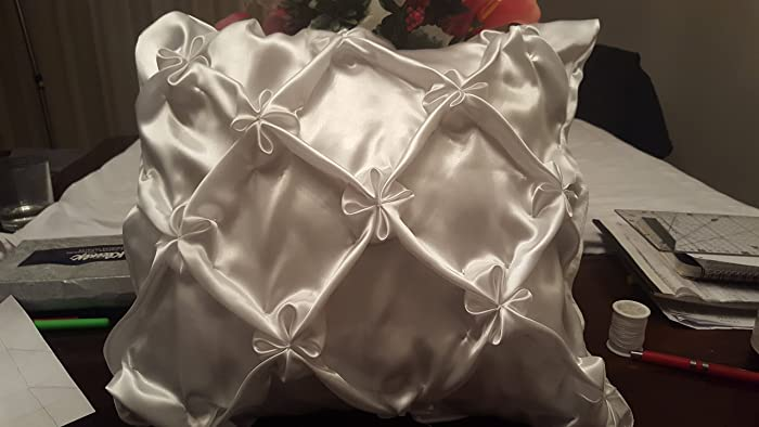 Amazon com: satin decorative pillow cover (jasmine flower