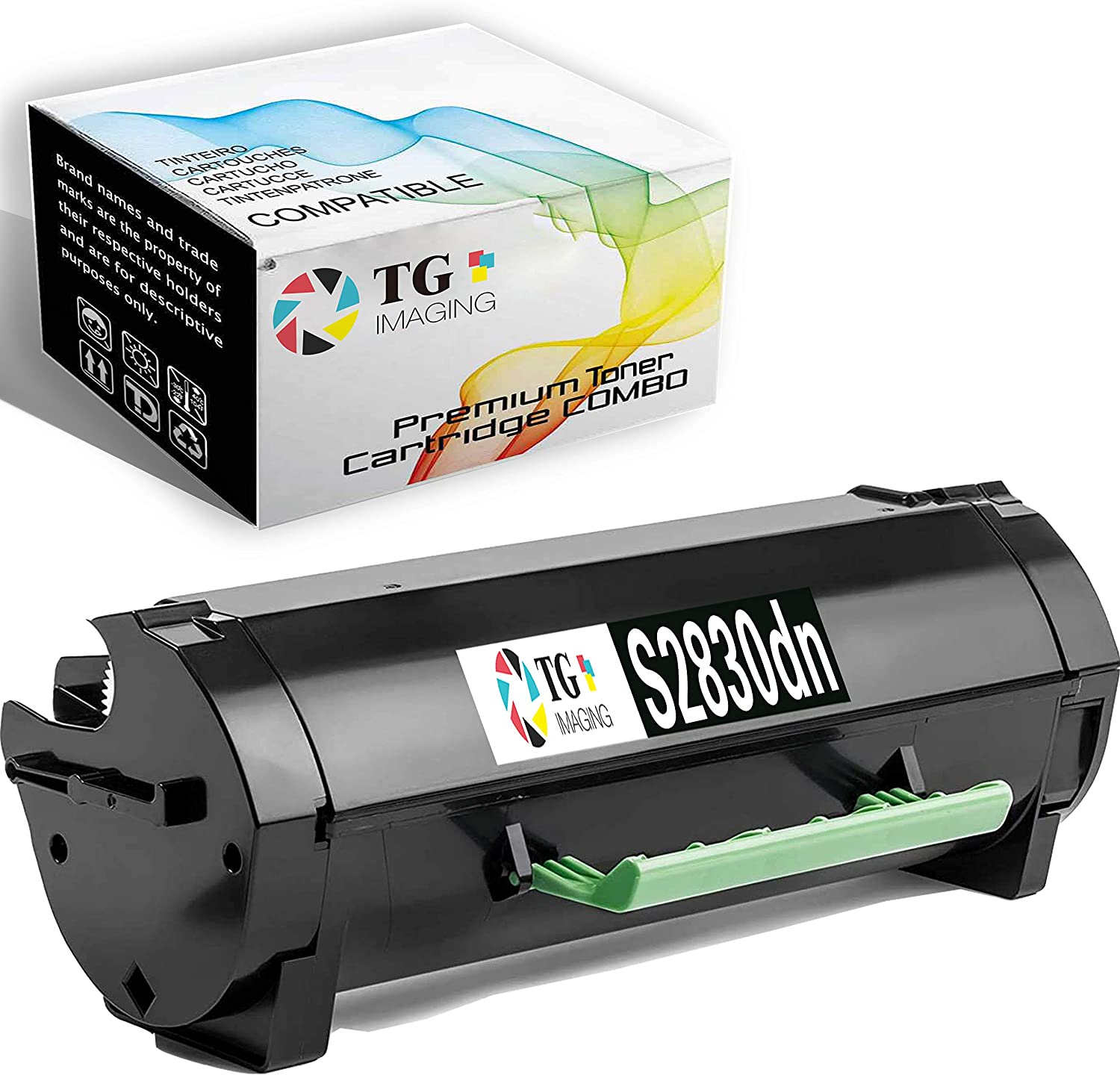 TG Imaging Compatible Toner Cartridge Replacement for Dell S2830 S2830X Worked in S2830dn Laser Printer (593-BBYO, 1 Pack Black)