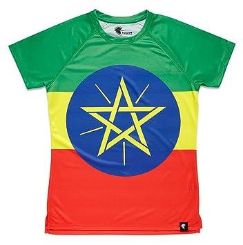 Camiseta Atletismo Etiopia Mujer, Manga Corta, Running, Gimnasio #AdisaBeba: Amazon.es: Deportes y aire libre
