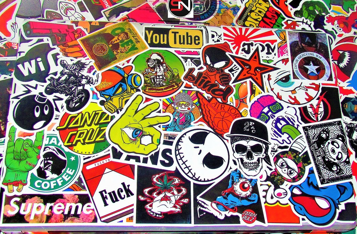 Amazon com stickers 100pcs sticker pack snation stickers laptop stickers skateboard stickers stickers laptop stickers bmx