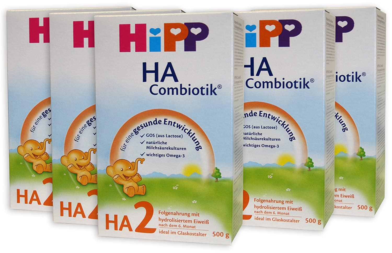 Hipp HA2 Combiotik Folgenahrung - ab dem 6. Monat - 5er Pack (5 x 500g)