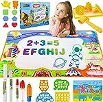 Shindel Aqua Magic Mat, 40 X 28Inches Kids Painting Writing Doodle