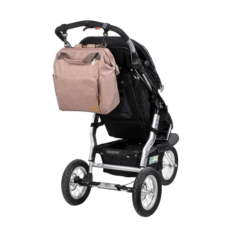 Lässig 1103010708 Mochila para pañales Glam Goldie Backpack, color rosa: Amazon.es: Bebé