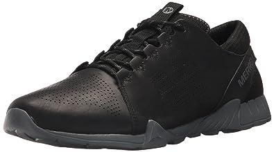 efb159ab9f89d Merrell Men's Versent Kavari Lace Leather Sneaker, Black, 7 Medium US