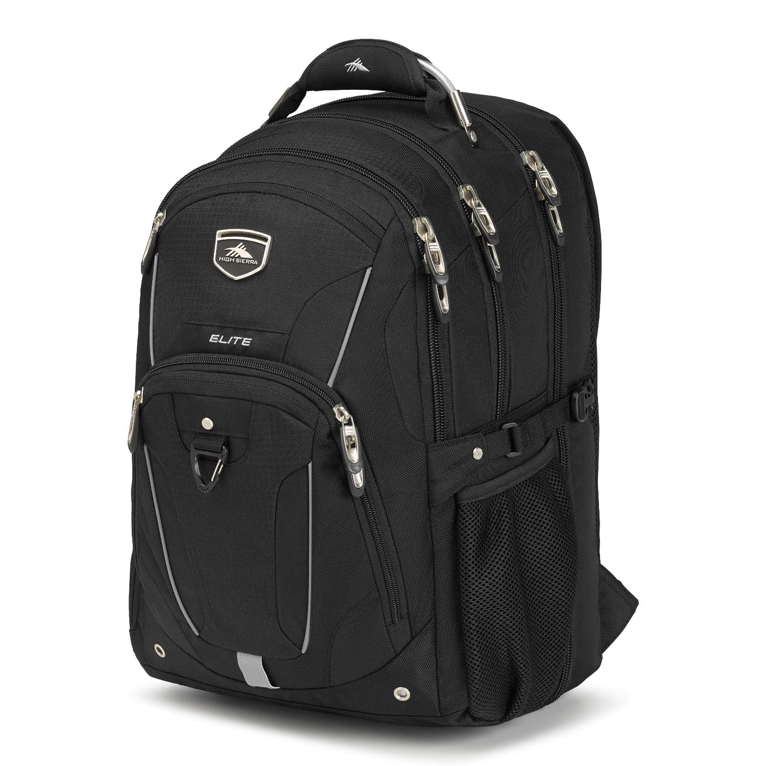 High Sierra Elite TSA-Friendly Laptop Backpack – Ideal for High School and College Students – Fits Most 17-inch Laptop Models, Black