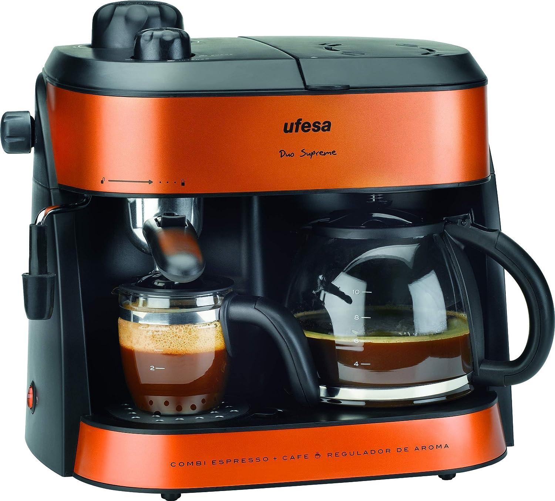 Ufesa CK7355 Duo Supreme - Cafetera Express, Hidropresión y de ...