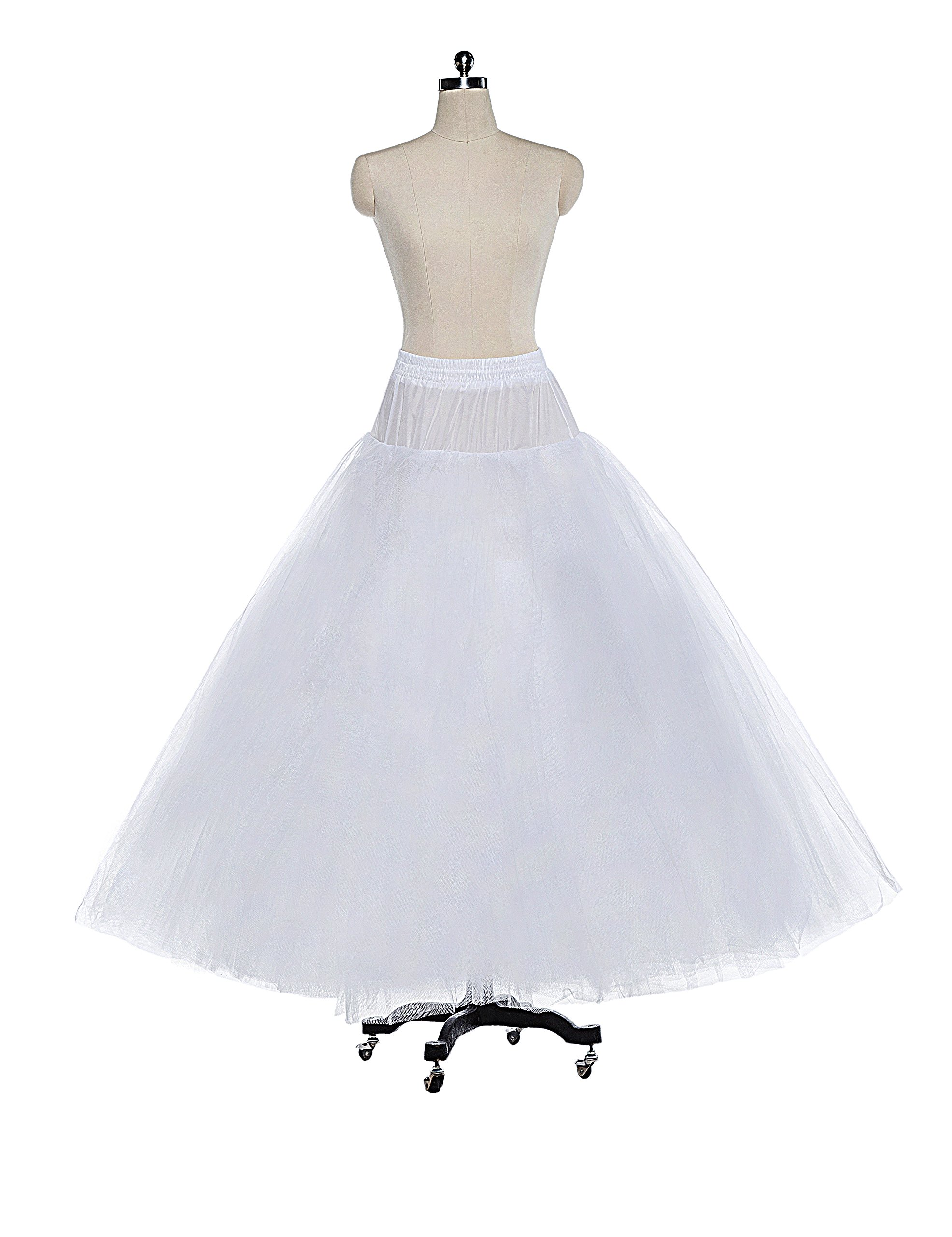 613cc1ae250e Galleon - 8 Layer Tulle Hoopless Bridal Petticoat Ball Gown Underskirt  Crinoline P003