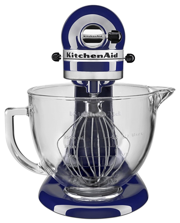 Amazon.com: KitchenAid KSM105GBCBU 5 Qt. Tilt Head Stand Mixer With Glass  Bowl And Flex Edge Beater   Cobalt Blue: Kitchen U0026 Dining
