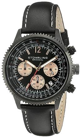Amazon Com Stuhrling Original Men S 669 05 Monaco Swiss Quartz Date
