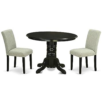Amazon.com: East West Furniture - Juego de mesa y mesa de ...