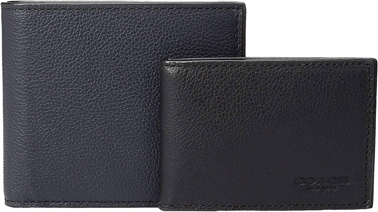 COACH Mens Leather 3-in-1 Wallet Set