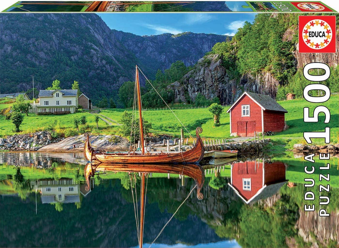 Educa Puzzle 1.500 piezas, Barco vikingo, color variado, 1500 ...