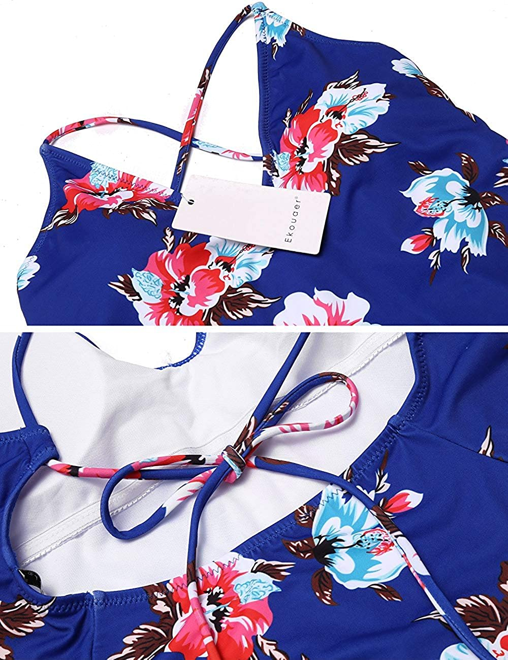 Modfine Costume da Bagno Donna Costumi Interi Benda Bikini Stampa Taglie S-XXL