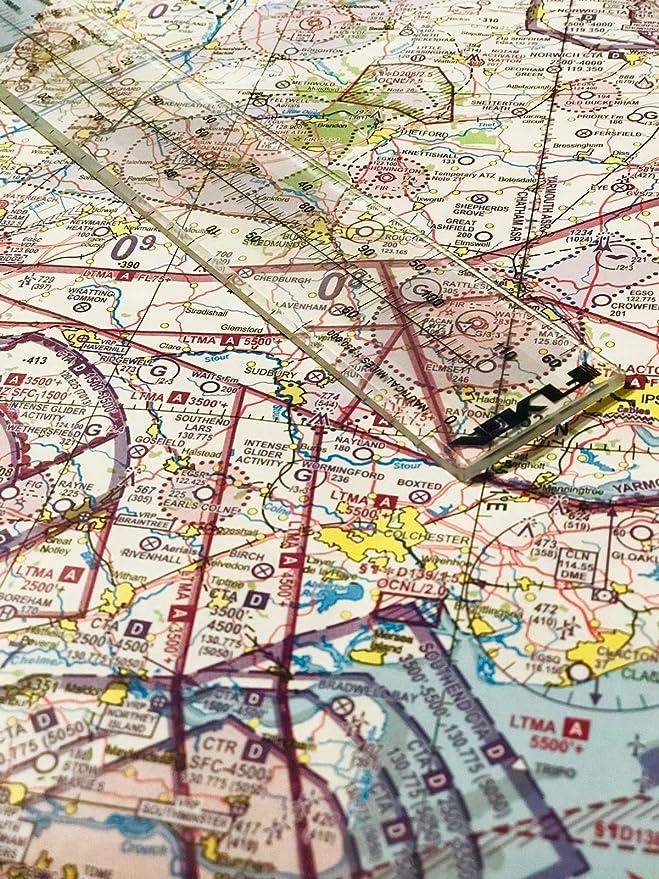 Regla de mapas de escala náutica (60 nm de distancia) – para pilotos de aviación, PPL(A), PPL(H) y CPL Pilots de aviación + Marina, capitanes de barco y navegación: Amazon.es: Deportes y