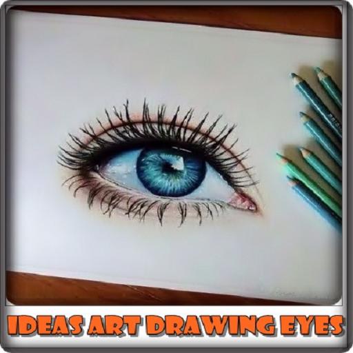 Ideas Art Drawing Eyes (White Dot On Iris)