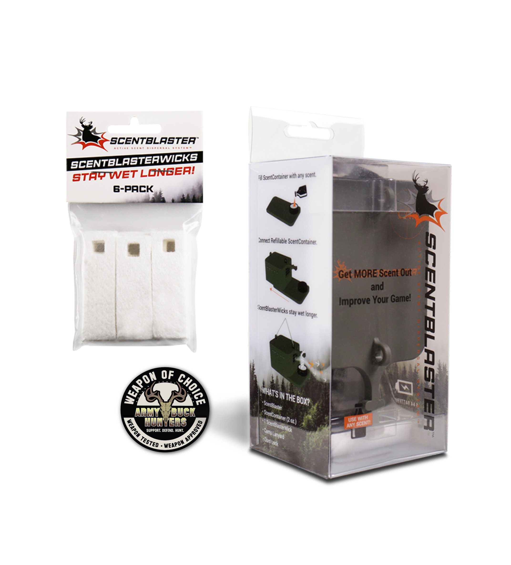 ScentBlaster is the best wicking system for hunters: increase the range & effectiveness of any hunting scent to attract more game to the kill zone!