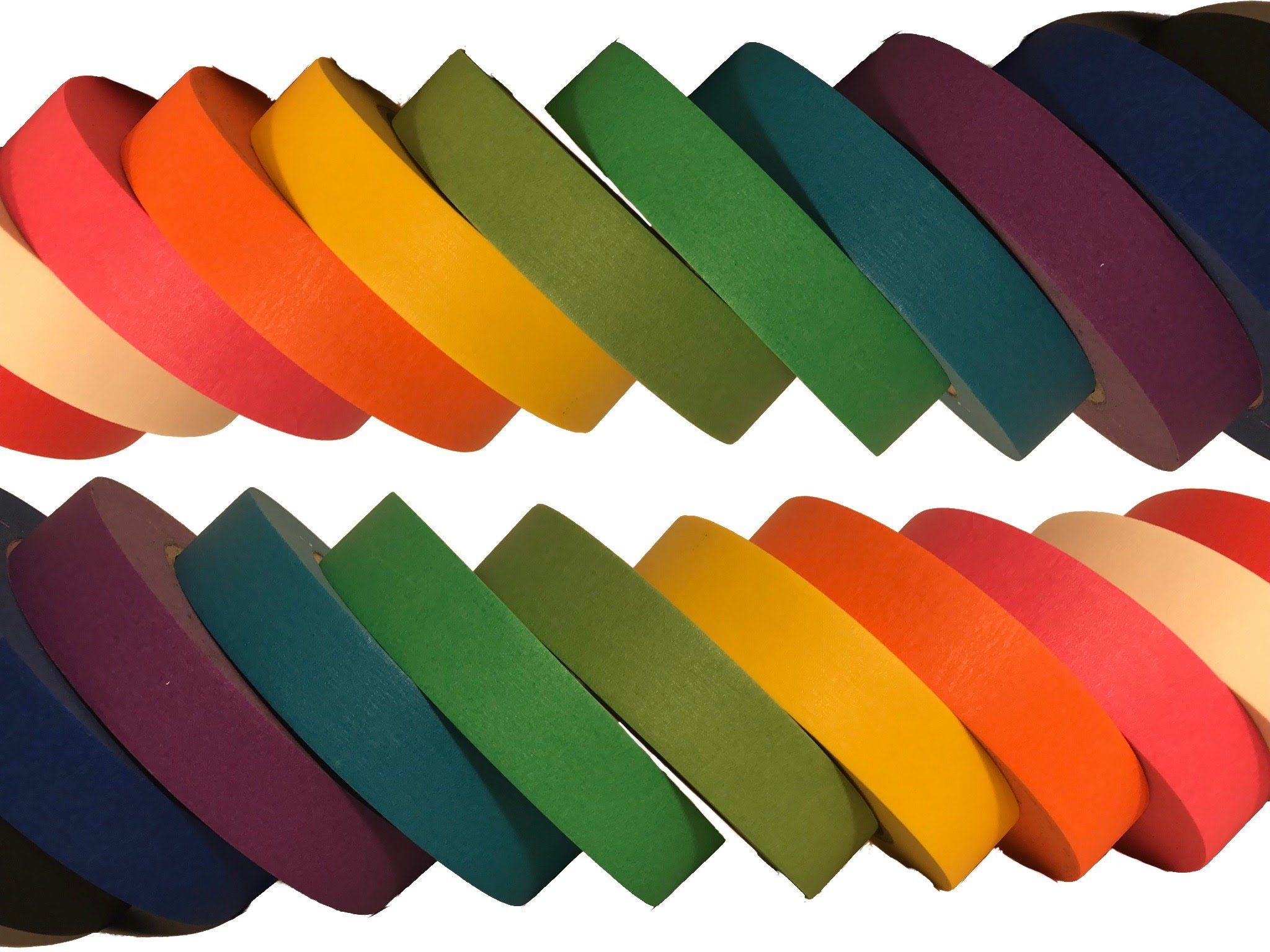 Vibrant Multi Colored Masking Tape 10 Rolls Plus one Bonus Roll by Lightningy Products
