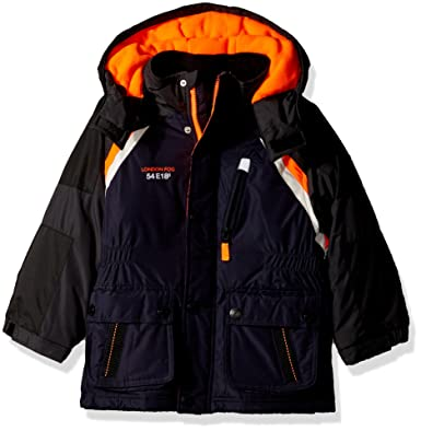 a77938827 Amazon.com  London Fog Boys  Little Midweight Parka Coat with Polar ...