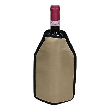 Kühlmanschette für Wein und Sektflaschen Schwarz Weinkühler Flaschenkühler
