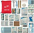 Well-Strong First Aid Kit 300 Pieces - Includes Splints Bandages Gauzes & Instant Cold Compress - for Travel Car Home Office Camping Hiking Hunting & Sports