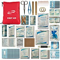 Well-Strong First Aid Kit 300 Pieces - Includes Splints Bandages Gauzes & Instant Cold Compress - for Travel Car Home…