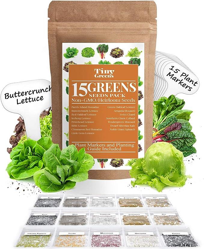 Leaf Lettuce Balcony Red Heirloom Vegetable Seeds NON GMO