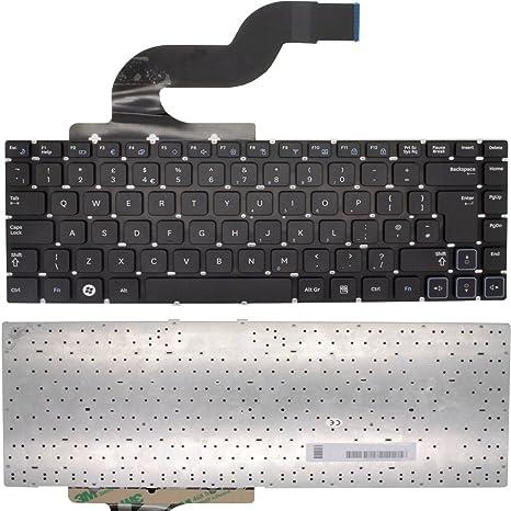 Nuevo teclado para ordenador portátil SAMSUNG RV411-A02 negro mate UK alineación de sin marco