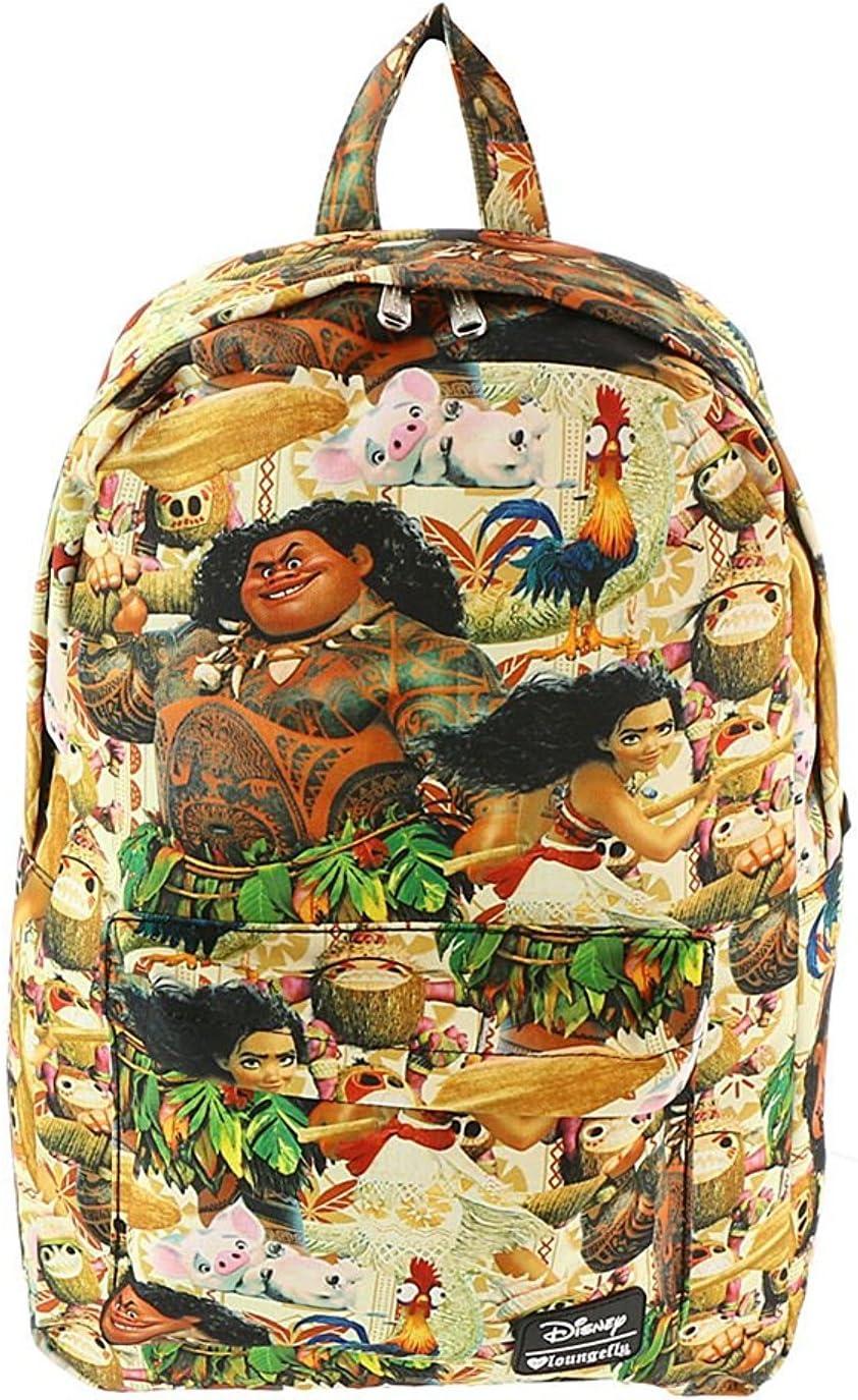 2019 Loungefly x Walt Disney Moana Floral Print Laptop Backpack School Book Bag