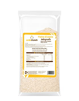 SMILE CRUNCH Harina de Avena Entera 1000 gramos: Amazon.es: Salud ...