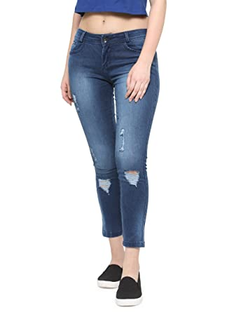67642c179bd4f XPOSE Blue Washed Jeans (Blue, 30): Amazon.in: Clothing & Accessories