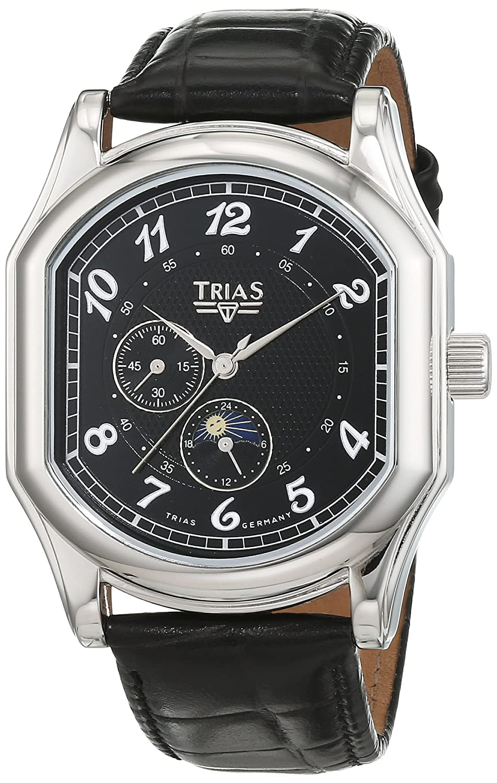 Trias Herren-Armbanduhr Analog Automatik Leder T21400S