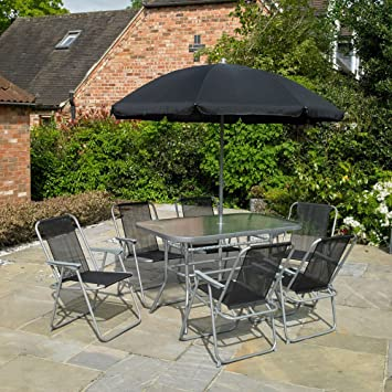 8 Piece Garden Furniture Patio Set Inc 6 X Chairs Table And