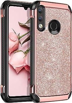 BENTOBEN Coque Huawei P30 Lite XL New Edition, Etui Huawei P30 Lite Housse Protection Antichoc Incassable Pailleté Brillant Durable Résistante Hybride ...