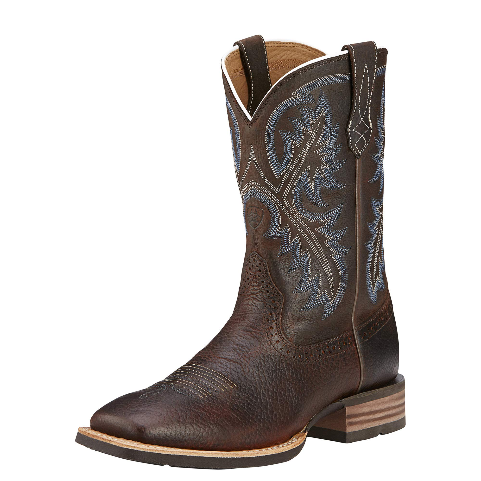Ariat Men's Quickdraw Western Cowboy Boot, Brown Oiled Rowdy, 10 W US