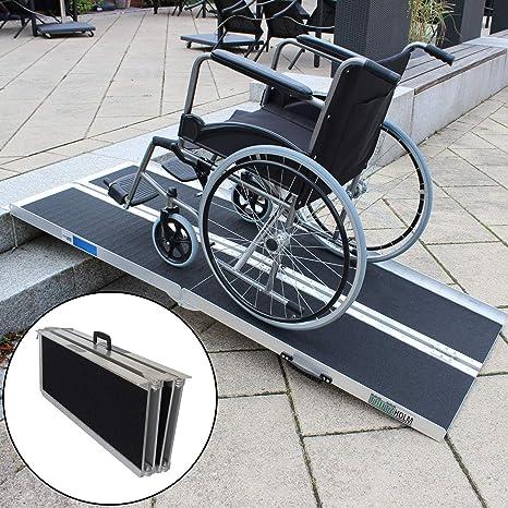 Rollstuhlrampe Verschiedene Größen 272 Kg Klappbar Alu Auffahrrampe Verladerampen Rampe 183 Baumarkt