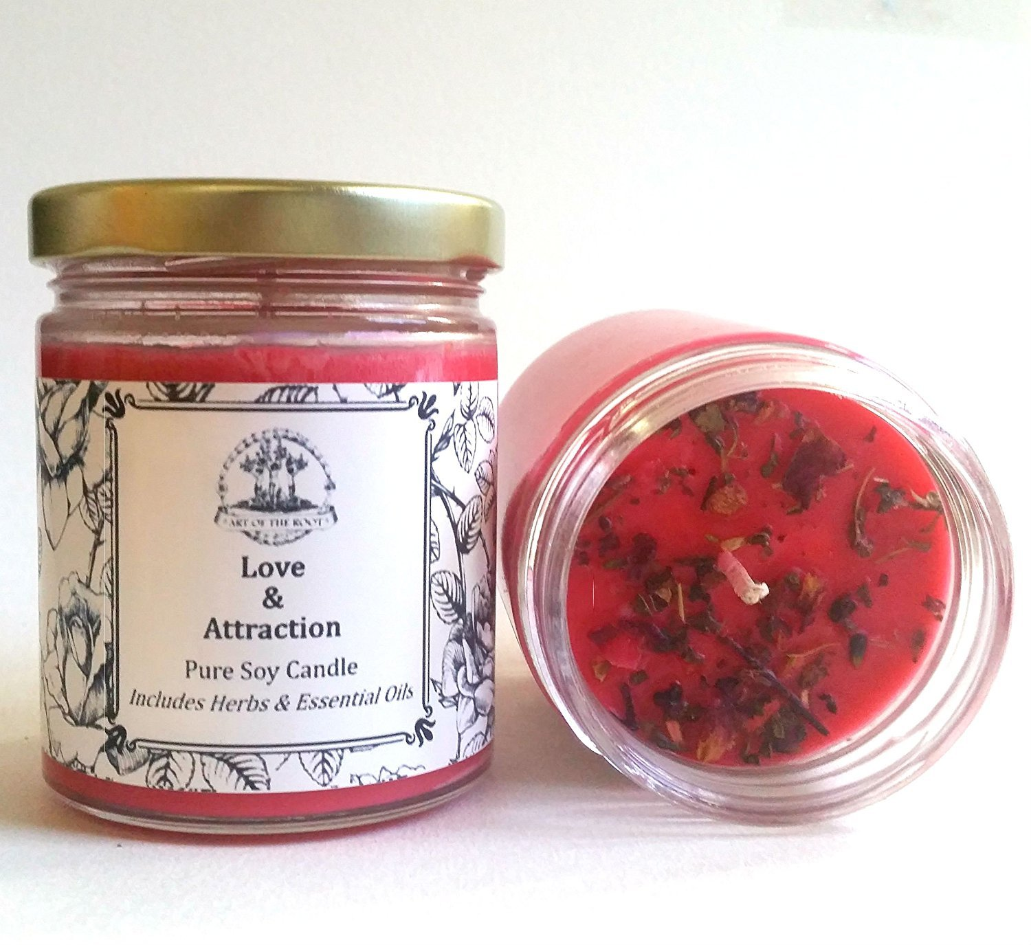 Love & Attraction 6 oz Soy Spell Candle for Romance & Relationships Wiccan Pagan Hoodoo