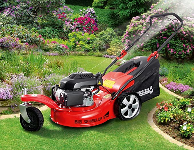 Powertec Garden Cortacésped de gasolina 5 in1 BIG Wheeler ...
