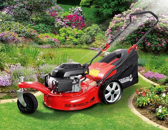 Powertec Garden Cortacésped de gasolina 5 in1 BIG Wheeler 460 ...