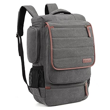 SOCKO Canvas Laptop Backpack Business Travel Luggage Bag College Backpack  Student School Shoulder Bag Men Women f6922d7923