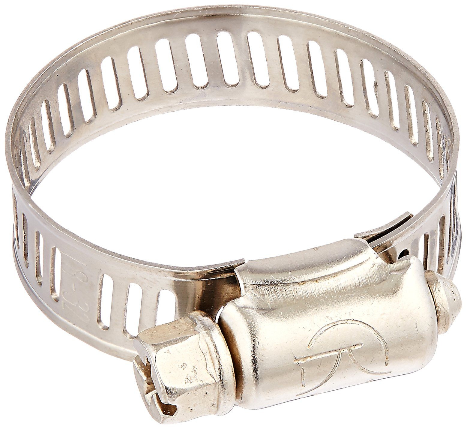 Uxcell Water Gas Pipe Worm Drive Hose Clamp Adjustable Hoop (5 Piece), 18-32mm