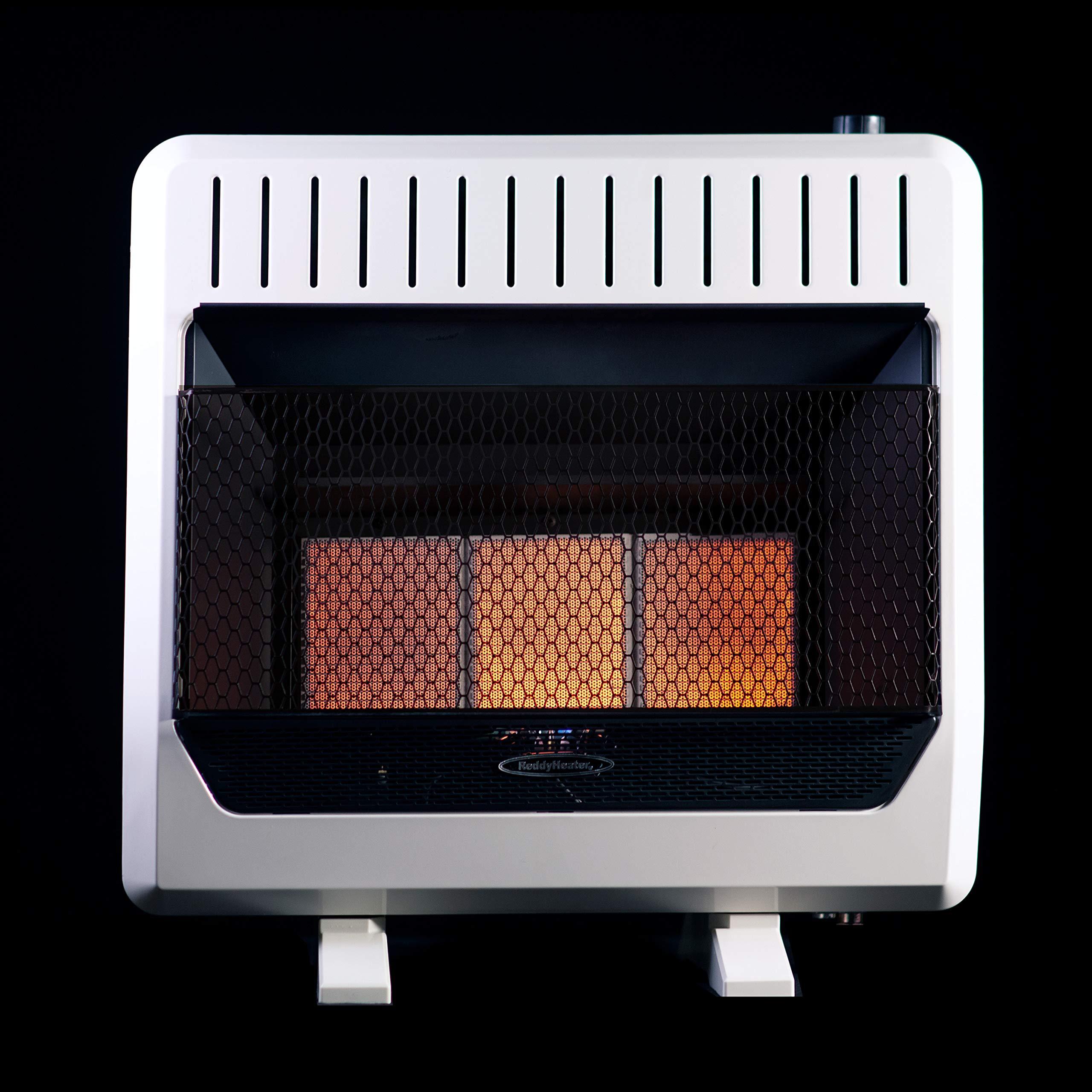 Sure Heat IRH26NLTD Dual Fuel Has 5 Ceramic Plaque IR Wall or Floor Mount Heater, 26K BTU, Beige/Tan by Sure Heat