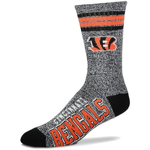 ff6e8939 For Bare Feet Got Marbled NFL Crew Socks Men's Large 10-13 - Cincinnati  Bengals