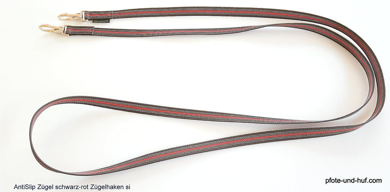 elropet Gummierte Z/ügel m Z/ügelhaken Silber Gummiz/ügel schwarz-blau