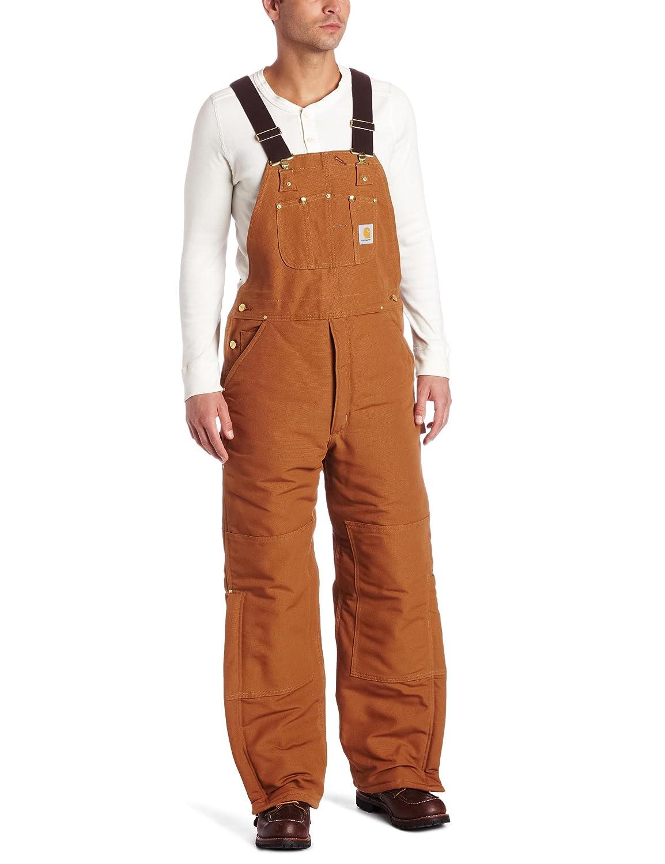 Carhartt Men's Quilt Lined Duck Bib Overalls R02 Carhartt Sportswear - Mens R02BLK